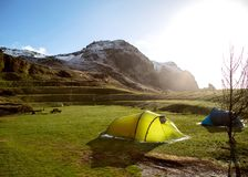 Free Tents In The Mountains Of Iceland Stock Image - 117885521
