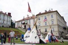 Tents Indians Royalty Free Stock Photo