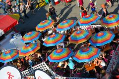 Tents lining the midway at carnival Stock Photography & Colorful Carnival Tents On Midway Editorial Photography - Image of ...