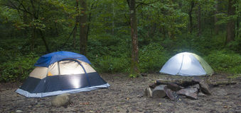 Tents before nightfall Stock Photography