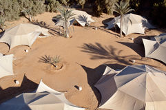 Tents of the nomadic Bedouin tribes Royalty Free Stock Images