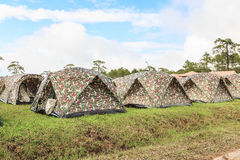 Tents at Phukradung national park Royalty Free Stock Photo