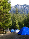Tents On Piatra Craiului royalty free stock image
