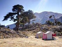 Tents on plateau of Mount Tahtali, Turkey Stock Photos