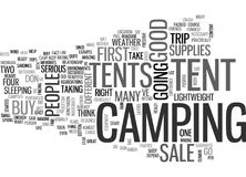 Tents For Sale Text Background  Word Cloud Concept Royalty Free Stock Photography