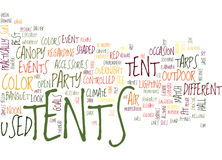 Tents Text Background Word Cloud Concept Stock Photo