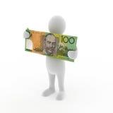 Tenuta dei soldi australiani Immagine Stock