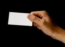 Tenuta del biglietto da visita in bianco Immagine Stock Libera da Diritti