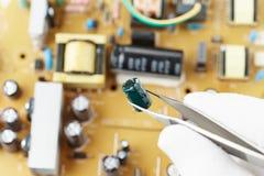 Laboratorio elettronico fotografie stock