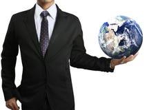 Tenuta del globo d'ardore della terra (NASA) Immagini Stock