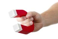 Tenuta del magnete fotografia stock libera da diritti
