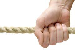 Tenuta della corda Fotografie Stock Libere da Diritti