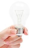 Tenuta della lampadina Immagini Stock Libere da Diritti