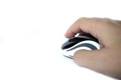 Tenuta della mano un topo Immagini Stock Libere da Diritti