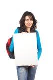 Tenuta della scheda in bianco Fotografia Stock