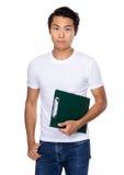 Tenuta dello studente con la lavagna per appunti Fotografie Stock Libere da Diritti