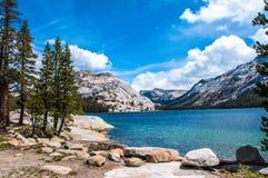 Tenya sjö, Tioga passerande Yosemite Arkivfoto