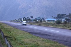 Tenzing–Hillary Airport also known as Lukla Airport stock photography
