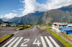 Tenzing†« Hillary Airport Lukla Airport Photos stock