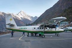Tenzing希拉里机场在卢克拉,尼泊尔 图库摄影