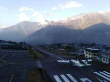 Nepal lukla airport royalty free stock image