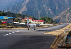 Tenzing-Hillary Airport in Lukla, Nepal. Stock Photography