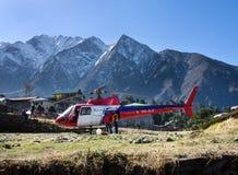 Tenzing-Hillary Airport in Lukla, Nepal. Stock Photography