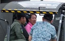 Teo Chee Hean, Abgeordneter Prime Minister von Singapur, im Singapur Airshow 2016 stockfotografie