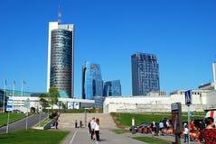 Teo drapacz chmur w Vilnius centrum miasta na Kwietniu 26, 2014 Fotografia Stock