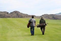 Teo golfers Stock Image