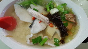 Teochew fish soup with rice royalty free stock photography