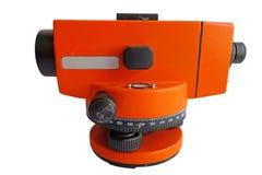 Teodolito anaranjado Fotografía de archivo