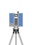 Teodolito, Topcon, laser que explora 3D, la exactitud más alta con la tecnología exacta de la exploración, gama larga Foto de archivo
