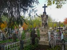 The funerary monument of Teodor Petrescu, the only son of Romanian novelist Cezar Petrescu. Teodor Petrescu, the only son of Romanian novelist Cezar Petrescu stock images