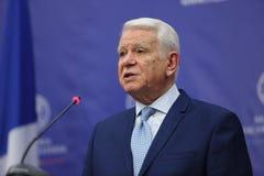 Teodor Viorel Melescanu, Romanian Minister of Foreign Affairs Stock Image