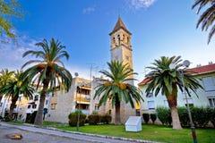 Teogir石头教会和棕榈 免版税图库摄影
