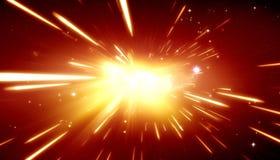 Teoría de explosión grande fotografía de archivo libre de regalías