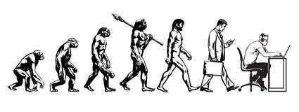 Teoría de la evolución del hombre ilustración del vector
