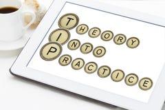 Teoría en práctica Foto de archivo