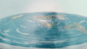 Teoría plana de la tierra ilustración del vector