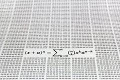 Teorema binomial imagen de archivo libre de regalías