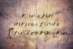 Teorema fondamentale di calcolo immagine stock