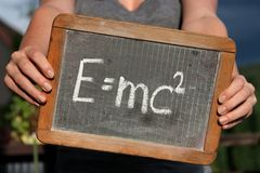 Teori av relativitet royaltyfri fotografi