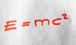Teoria de relatividade da ciência Imagens de Stock