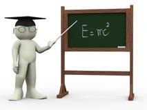 teoria dell'insegnante 3d e dei einsteins Fotografia Stock Libera da Diritti