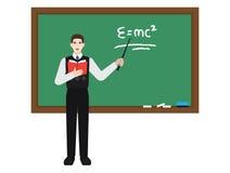 Teoria della relatività d'istruzione dell'insegnante Fotografia Stock Libera da Diritti