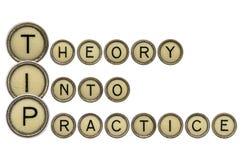 Teoria na prática Fotografia de Stock Royalty Free