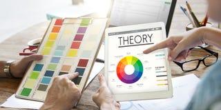 Teorii mapy koloru planu Graficzny pojęcie Obrazy Stock