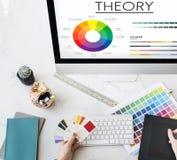 Teorii mapy koloru planu Graficzny pojęcie Zdjęcie Stock