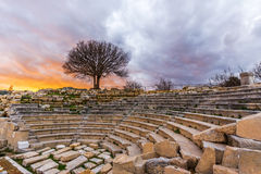 Teos Ancient City, Izmir. The ancient coastal city of Teos, which is located in Sığacık Quarter of Seferihisar district (the first slow city,Citta Slow of Royalty Free Stock Photography